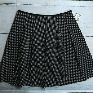Black and White polka dot skirt NWT